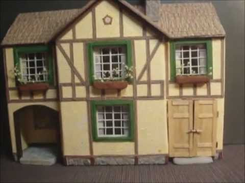 Paper model house tudor youtube for How to make different types of house models