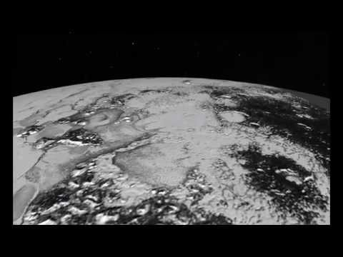 Flying over Pluto's icy plains and Hillary Mountains