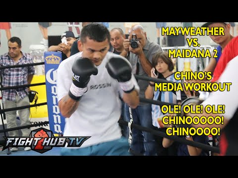 Floyd Mayweather vs. Marcos Maidana 2 - Maidana full workout: Mitts+ Speed Bag