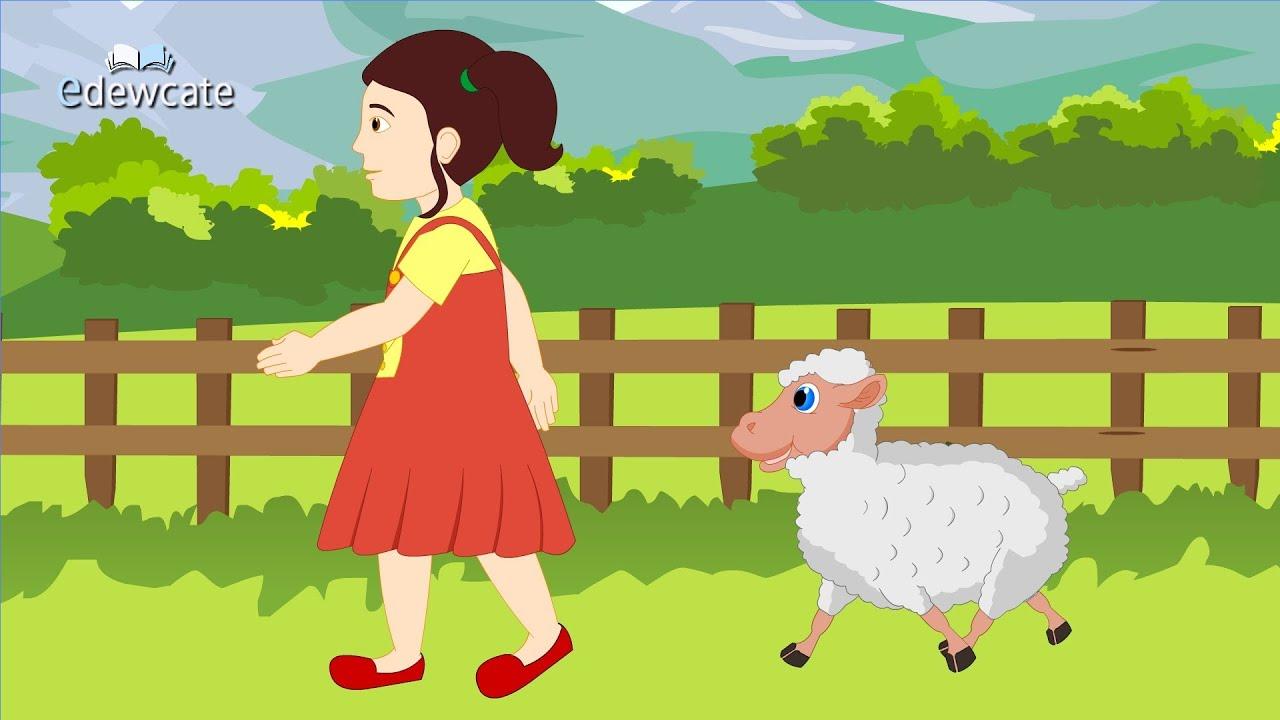 Edewcate English Rhymes Mary Had A Little Lamb Nursery