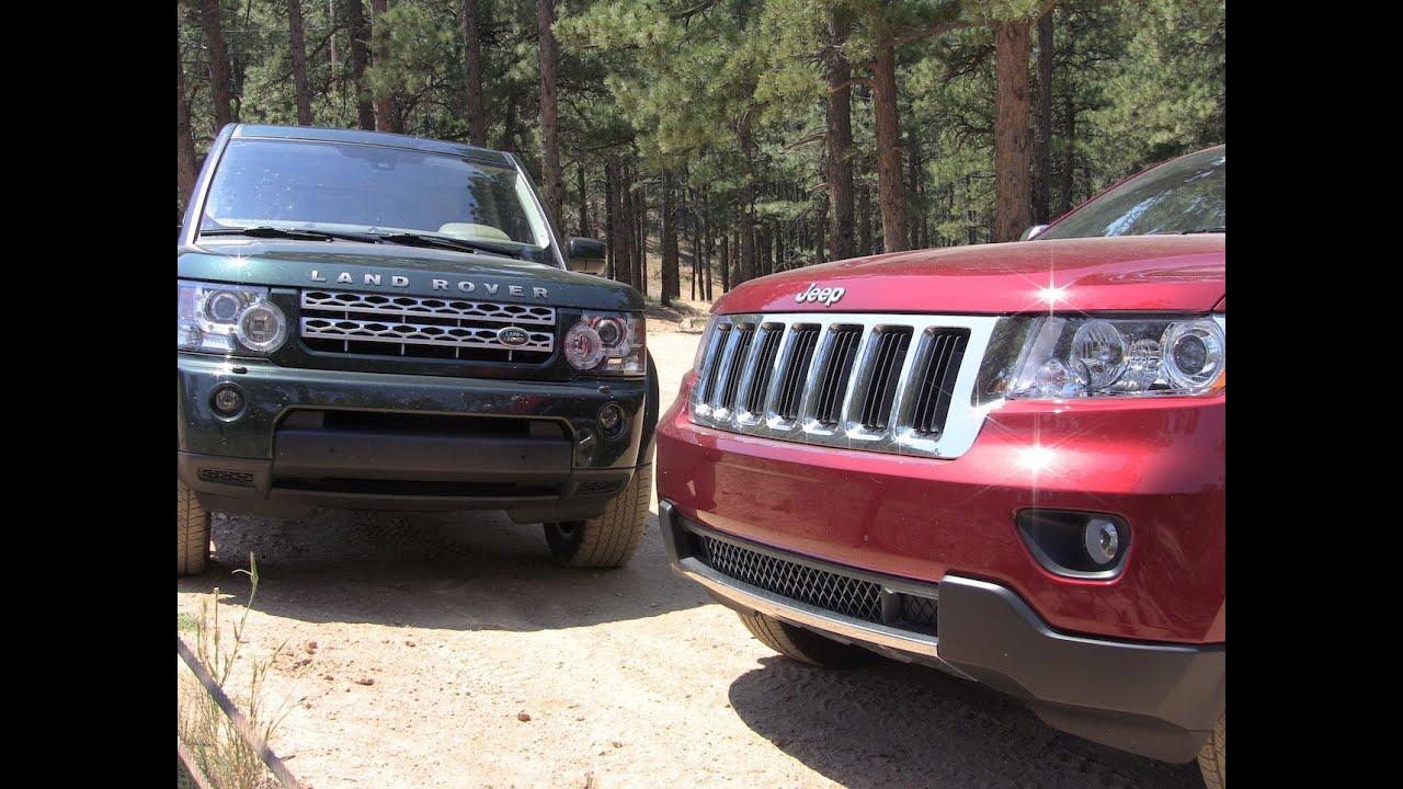 2012 land rover lr4 vs jeep grand cherokee off road mashup review youtube. Black Bedroom Furniture Sets. Home Design Ideas
