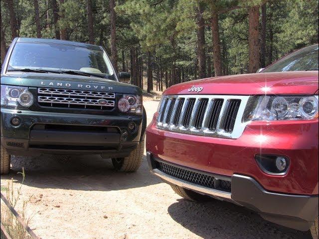 2012 Land Rover LR4 vs Jeep Grand Cherokee Off-Road Mashup ...