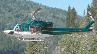 Bell 212 Helicopter Landing