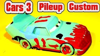 Pixar Cars 3 Custom Painted PILEUP from Cars3 Demolition Derby we Make Pileup and Lightning McQueen