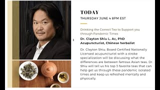 JUARA Presents: Drinking the Correct Tea to Support you through Pandemic Times with Dr. Clayton Shiu