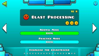 Blast Processing 100% all coins Lvl. 17-Geometry D