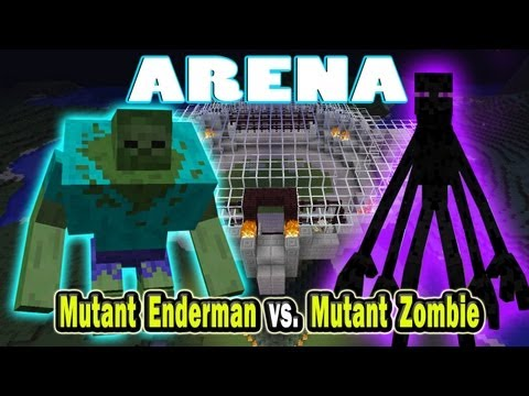 Minecraft Arena Battle Mutant Enderman vs Mutant Zombie