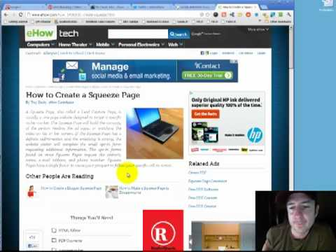 What is a landing page - How to create a squeeze page or landing page