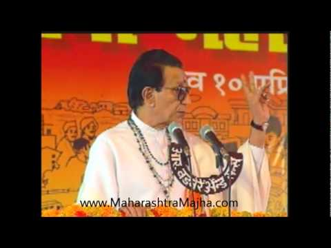 Balasaheb Thackeray in Shiv Sena Vardhapan Din 10 April 2002...