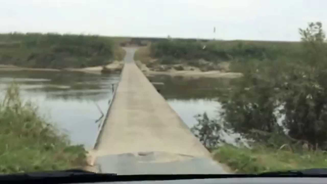 奈良県の沈下橋「大城橋」を車で渡る その1(河合町→斑鳩町 ...
