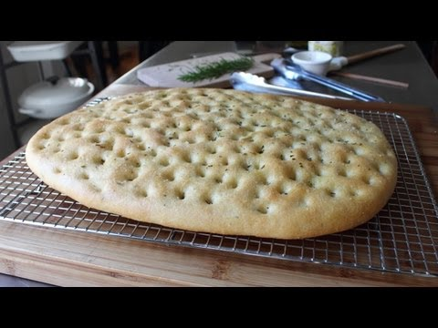 Focaccia Recipe - Italian Flat Bread with Rosemary and Sea Salt