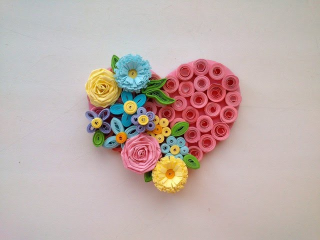 Paper Quilling Art Quilling Valentine39s Day Idea - Quilling Magnet Heart. Quilling Ideas