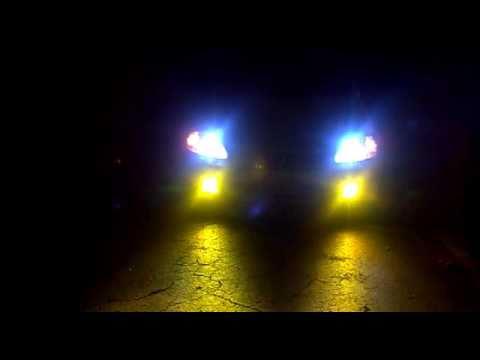 Ek Hatch Civic Headlights and Fog Lights on Hid's