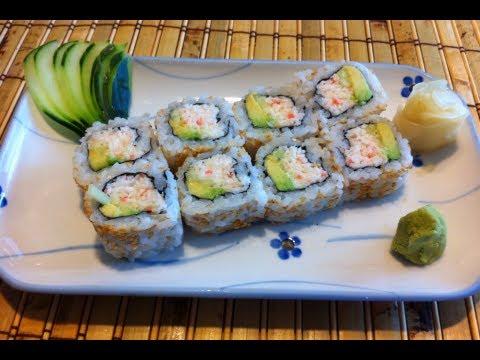 Sushi como hacer california roll california rollo youtube for Como hacer arroz para sushi