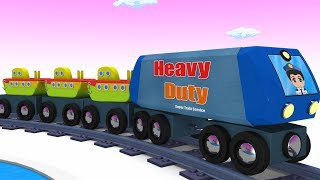 Toy Train -  Cartoon Train - Train Videos - Kids Videos for Kids - Cartoon Cartoon - JCB Trucks