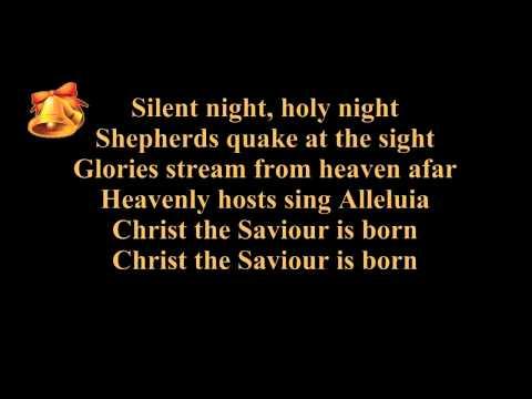 Silent night lyrics (karaoke) - instrumental music - piano and strings - Christmas song / carol