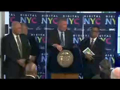 Mayor de Blasio Unveils Digital.NYC, First Ever All-Inclusive Online Hub for City's Tech Ecosystem