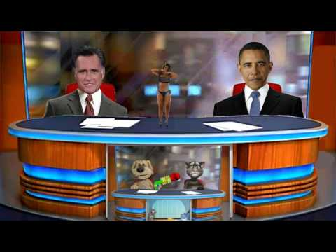 Tom and Ben News - Barack Obama and Mitt Romney in the studio Tom and Ben