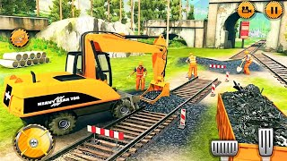 kids 3d : train truck dumper and train track constructor geme