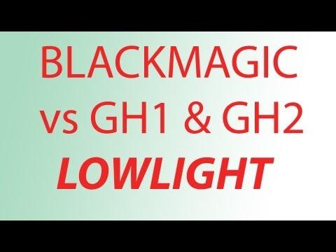 BlackMagic Cinema Camera vs Hacked GH2 and GH1 lowlight candle comparison (Original Anamorphic)