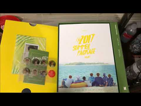 BTS Summer Package 2017 Unboxing (Raw)