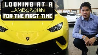 FIRST TIME Looking at a LAMBORGHINI  *Emotional*
