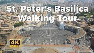 St. Peter's Basilica Walking Tour in 4K