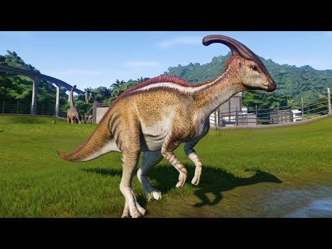 Jurassic World Evolution - Parasaurolophus Gameplay (PS4 HD) [1080p60FPS]