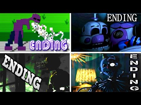 Five Nights at Freddy's: Sister Location ALL ENDINGS | FNAF Sister Location