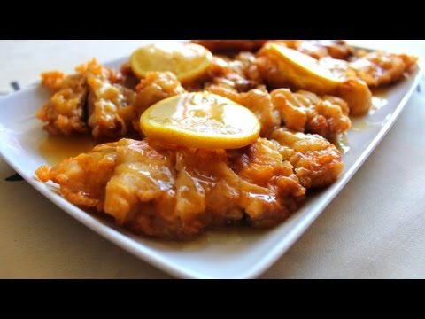 Pollo al limón estilo chino - Recetas de cocina