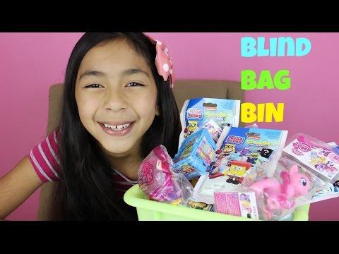 Monday Blind Bag Bin My Little Pony,Shopkins,Sponge Bob, Angry Birds, Mi World DQ