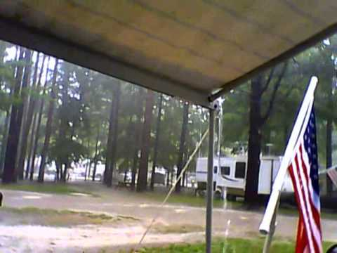 Camping in the rain at Saginaw Bay Resort