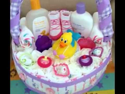 DIY Baby shower baskets decorating ideas - YouTube