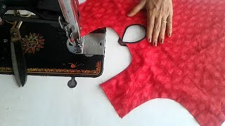 new simple and easy  kurti neck design