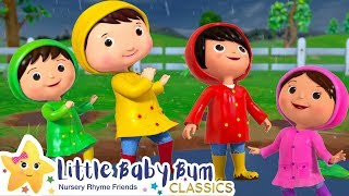 Splashing in The Puddles Song +More Nursery Rhymes and Kids Songs - ABCs and 123s | Little Baby Bum
