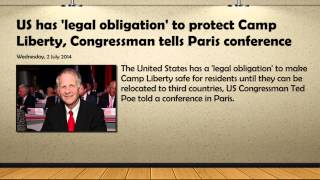 [US has 'legal obligation' to protect Camp Liberty] Video