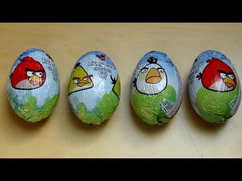 Surprise Egg Angry Birds [fazer Chocolate Egg With Toy] video