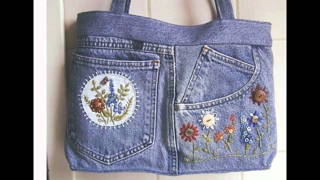 Декорирование джинсовой сумки своими руками 19