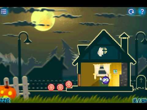 ловить конфеты хэллоуин