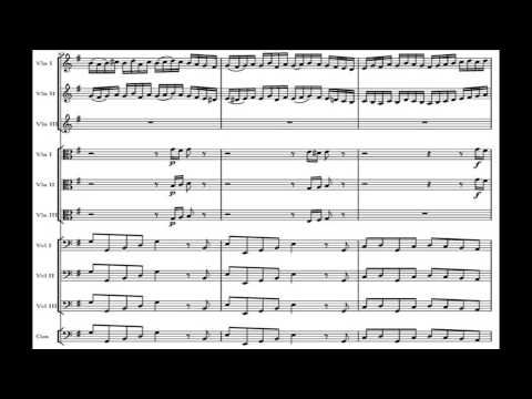 Bach Brandenburg Concerto No. 3 in G major, BWV 1048 - Original Version with sheet music