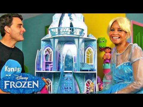 Disney Frozen Ice Castle With Queen Elsa !    Disney Toy Reviews    Konas2002