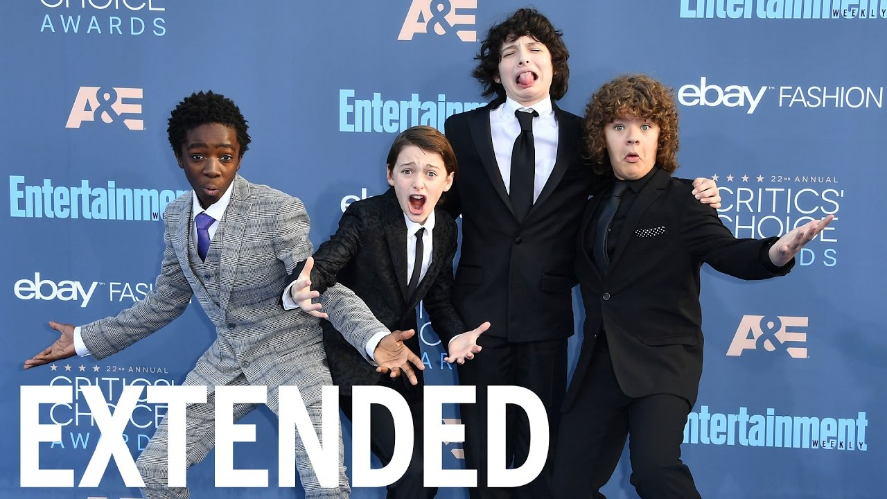 'Stranger Things' Cast Get Excited About Golden Globes | EXTENDED
