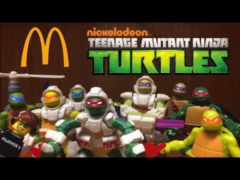 Teenage Mutant Ninja Turtles METAL MUTANTS Happy Meal Toys Review 2016!! Full Set of 8 Toys!!