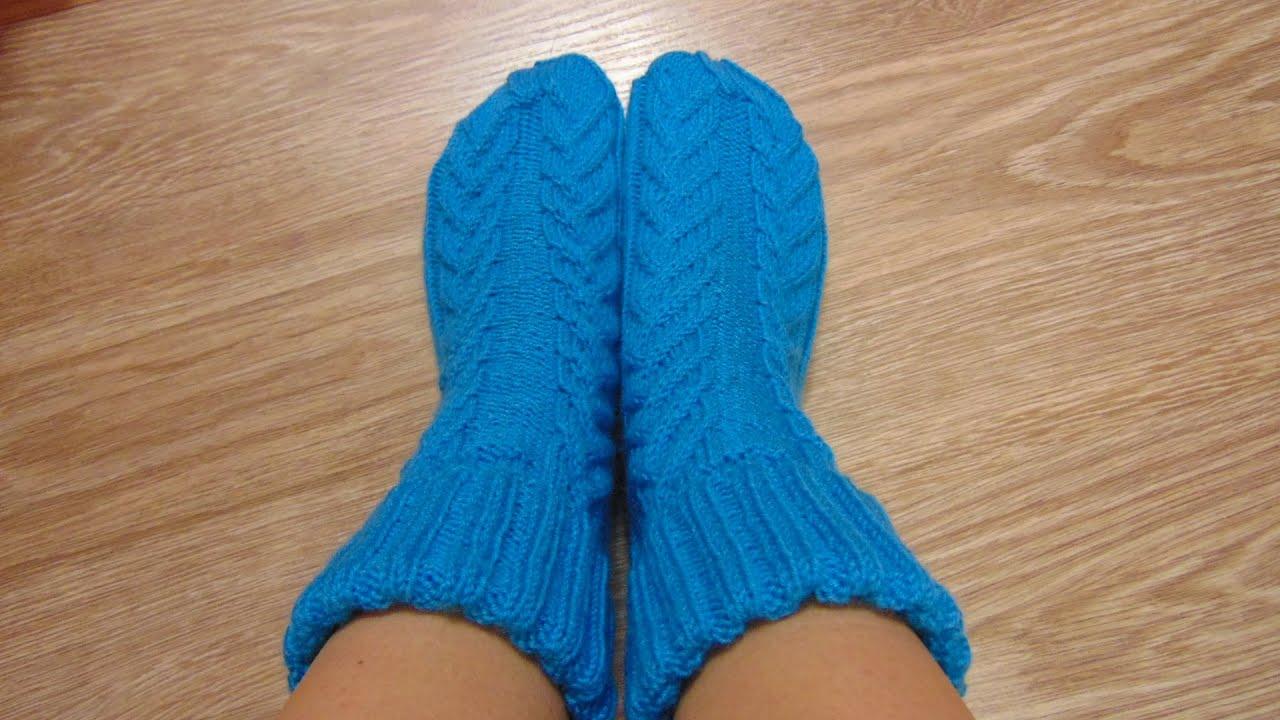 Мастер класс по вязанию носков » Петля - вязание 49