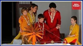 Canadian PM Trudeau, Family Spins Charkha At Sabarmati Ashram
