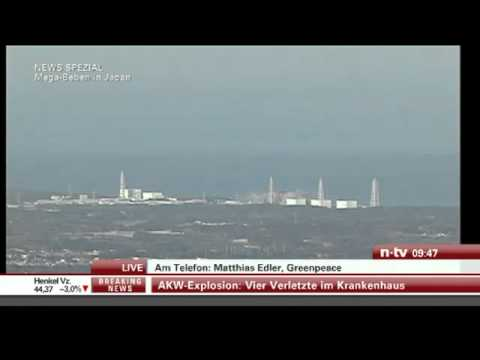 Live Fukushima 12.03.2011   Japan  Explosion An Kkw Fukushima I, Kernschmelze Offenbar Eingesetzt video