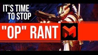 """THIS GUN IS OP"" - Destiny Rant"
