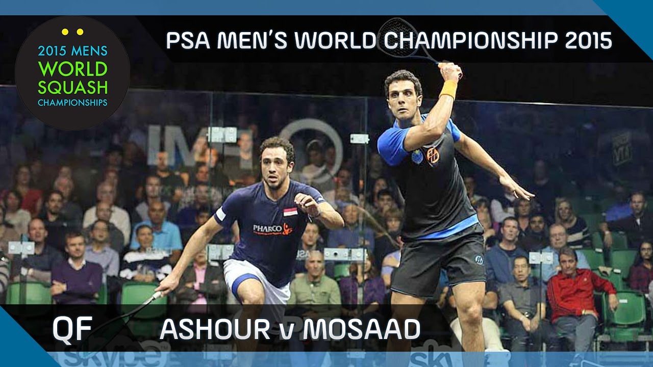 Squash: 2015 PSA Men's World Championship QF Highlights: Ashour v Mosaad