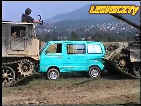 NEW!!!  MEGA CRASH! Tank & SUZUKI!  T 55 AM & ATS crushes car.flv