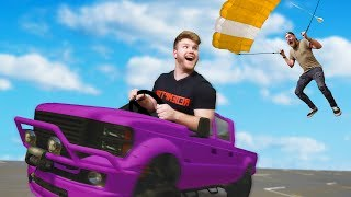 PARACHUTE INTO THE MOVING VEHICLE CHALLENGE!   GTA5